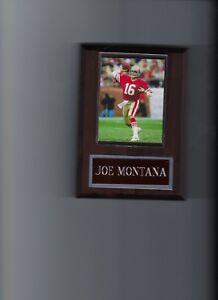 JOE MONTANA PLAQUE SAN FRANCISCO FORTY NINERS 49ers FOOTBALL NFL
