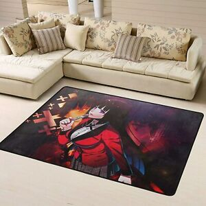 KAKEGURUI Yumeko Area Rug Living Room Bedroom Soft Flannel Floor Mat Carpet