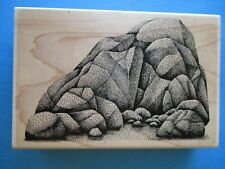 STAMPSCAPES LARGE ROCKS Rubber Stamps SCENERY Boulders