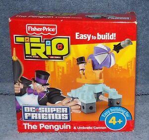 FISHER PRICE TRIO DC SUPER FRIENDS THE PENGUIN & UMBRELLA CANNON SET