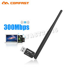 COMFAST 300Mbps Wireless USB WiFi Adapter WLAN Card 5dBi Antenna Dongle WU756P