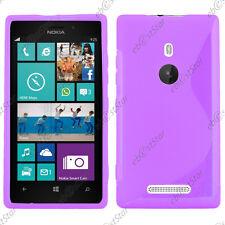 Housse Etui Coque Silicone Motif S-line Gel Souple Violet Nokia Lumia 925