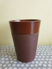 Vintage Lovatts Langley Mill Textured Beaker With Leadless Glaze
