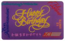TK 102a Telephonkarte/Phone 12u Happy Birthday In Different Languages