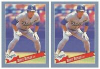 (2) 1993 Hostess Baseball #20 Brett Butler Baseball Card Lot Dodgers