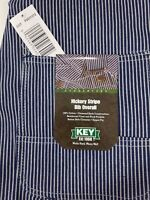 NEW Mens Authentic KEY IMPERIAL Carpenter Bib Overalls Hickory Stripe 100%cotton