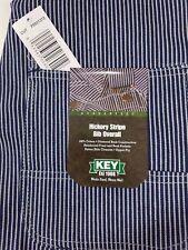 NEW Mens Authentic KEY IMPERIAL Carpenter Bib Overalls Hickory Stripe 100%cotton