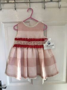 STUNNING GENUINE BRAND NEW TAGGED GIRLS PARTY DRESS BY MIRANDA AGED 3 YEARS