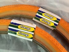 NOS Tioga Mitsuboshi Competition ST Orange  BMX Tires Factory Label 20""