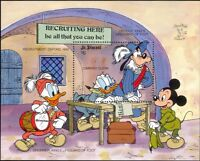 St Vincent 1990 Disney/Donald/Mickey/Soldiers/Cartoons/StampEx 1v m/s (b3123j)