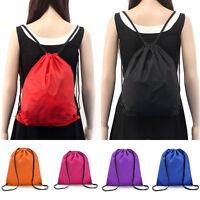 Drawstring Sack Bags Sports PE Swim Gym Waterproof Shoulder School Bag Backpack