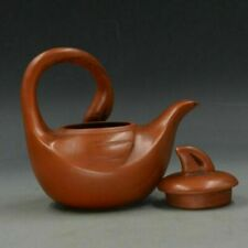 Chinese Yixing ZIsha Hand Carved Goose Shape Teapot Made By Cai Hongbin A01