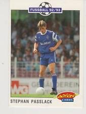 Panini Fussball 92-93 Action Cards #222 Stephan Passlack Bayer 05 Uerdingen