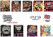 Ps3 Guitar Hero GAME SERIES - Legends of Rock World Tour Metallica Warriors etc