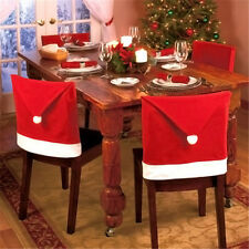 1pcs Santa Red Hat Chair Covers Christmas Decorations Dinner Chair Xmas Cap Sets