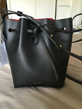 MANSUR GAVRIEL Mini Bucket Bag Black Noir Flamma Rouge Sac Medium NWT NEUF