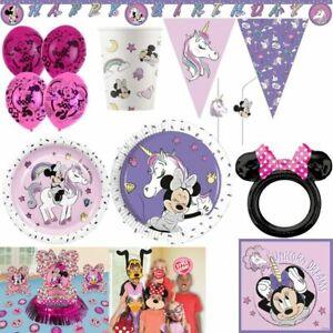 Minnie Mouse Unicorn Kid's Birthday Decor Set Party Decoration Birthday Mouse