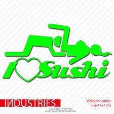 I love Sushi - i love vaginas Aufkleber Auto Fun Sticker |LOW Shocker OEM DUB