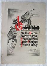 politisches Plakat Volksbegehren gegen Kriegsschuld 1920 er Jahre, Hugenberg