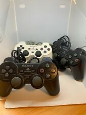3 Playstation 2 Controllers One White And 2 Black In Good Condition Free Shippin