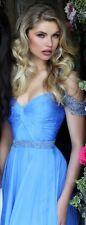 Sherri Hill 50086 Cinderella Prom Dress - 2016 Size 6 - Gorgeous Blue & Sequins