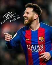 LIONEL MESSI #8 (BARCELONA) - 10X8 PRE PRINTED LAB QUALITY PHOTO PRINT
