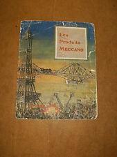 RARE très ancien catalogue LES PRODUITS MECCANO rare catalog - années +/- 1920