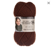 Loops and Threads Yarn Super Bulky 6 90 Yards Each in Chocolate Brown 2 Bundles