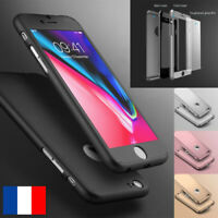360° Protection Coque Verre Cover Tempered Glass for Apple iPhone 6 7 8 5 XS XR