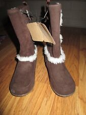 Girls CRAZY 8 SUEDE BOOTS  sz 10 NWT chocolate