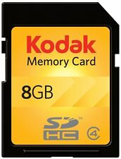 Kodak SD SDHC 8G 8GB Class 4 C4 Flash Memory Card For Digital Camera DSLR