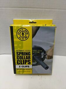 """Golds Gym Olympic Spring Collar Clips fits 2"""" Olympic Barbell Dumbbell"""