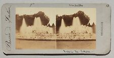 Versailles Bassin France Stereo Vintage albumine ca 1860
