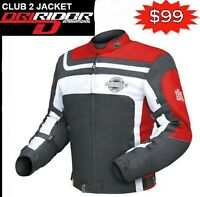 Dririder CLUB 2 Motorcycle Retro Jacket NEW Honda Red rrp$199 Motorbike Road