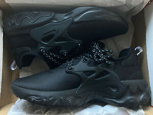 NEW Mens Nike React Presto 'BLACK CAT' Trainers Sneakers Ltd Edition Retro 9 UK