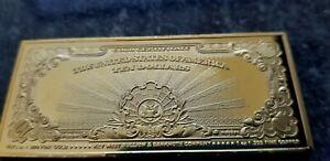 Free Ship! Ultra Mirror Detail ~ 1.1 oz $10 Gold Coin Art Bar