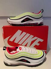 NIKE MEN'S AIR MAX 97 WHITE/RUSH PINK/BLK-VOLT CL9871 100 SNEAKERS  SIZE: 10.5