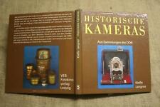 Sammlerbuch Historische Kameras,Holzkamera,Plattenkamera,Stereokamera, DDR 1989
