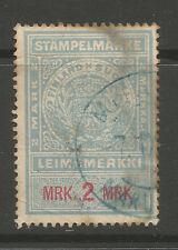 Finland 2 Markka revenue/fiscal stamp