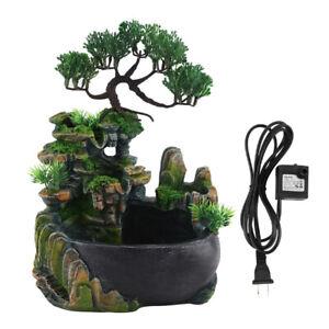 Resin Waterfall Fountain Gift Table Zen Meditation Simulation Home Desktop Decor