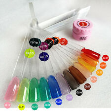 Beauty 3D 3G 12 Translucent Crystal Color Che UV LED Soak Off Nail Art Gel Set
