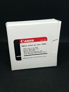 Canon 58mm Close-Up Lens 500D with Case and Box