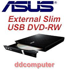 Asus SDRW-08D2S-U Lite External Slim Portable DVD RW Burner Drive USB Black