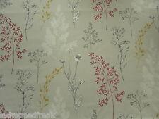 Sanderson Curtain Fabric SUMMER MEADOW 3.4m Magenta/Linden Floral Design 340cm