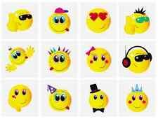 12x Bambini Happy Faccina Sorridente Tatuaggi Temporanei Trasferimenti Giochi