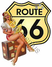 Pinup Girl Waterslide Decal Sticker Route 66 S794 for guitars and much more
