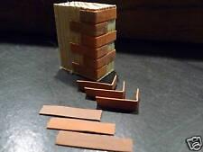 100 Miniature Red/Dark Dolls House Versi Corner Brickslips