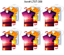 Luggage Bag Tag SET OF 6 - Lenticular Travel  T-Shirt Shape, Sunset, #LTST-359#