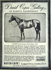 1949 COPE'S Bookmakers Famous Racehorse Print ADVERT 'CICERO' - Small Vintage Ad
