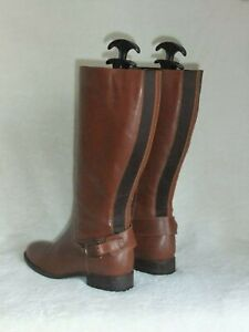 GORGEOUS WOMENS VAN DAL BROWN LEATHER RIDING STYLE HIGH BOOTS SZ 4 UK 37 EUR VGC